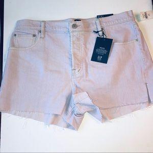 "🆕 GAP LILAC DENIM 3"" High Rise Cut-Off Shorts"